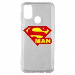 Чехол для Samsung M30s Super Man