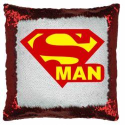 Подушка-хамелеон Super Man