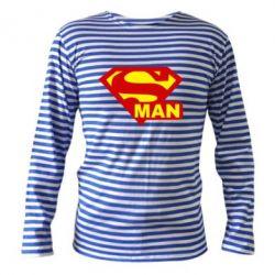 Тельняшка с длинным рукавом Super Man - FatLine
