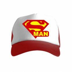 Детская кепка-тракер Super Man