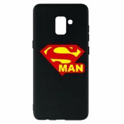 Чехол для Samsung A8+ 2018 Super Man