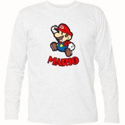 Футболка с длинным рукавом Супер Марио - FatLine