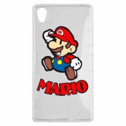 Чехол для Sony Xperia Z1 Супер Марио - FatLine