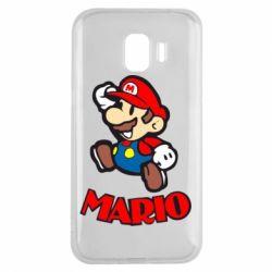 Чехол для Samsung J2 2018 Супер Марио - FatLine