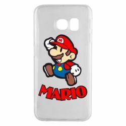 Чехол для Samsung S6 EDGE Супер Марио - FatLine