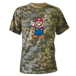 Камуфляжная футболка Супер Марио - FatLine