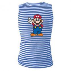 Майка-тельняшка Супер Марио - FatLine