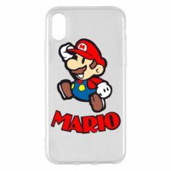 Чехол для iPhone X Супер Марио - FatLine
