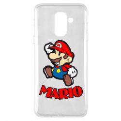 Чехол для Samsung A6+ 2018 Супер Марио - FatLine