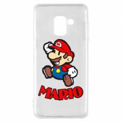 Чехол для Samsung A8 2018 Супер Марио - FatLine