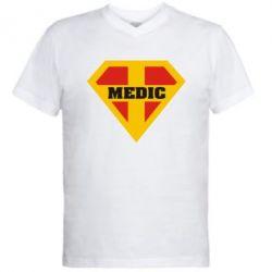 Мужская футболка  с V-образным вырезом Super Medic - FatLine