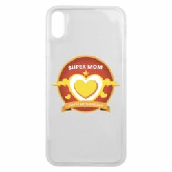 Чехол для iPhone Xs Max Super mom happy mather day
