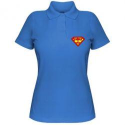 Жіноча футболка поло Super mom