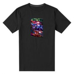 Мужская стрейчевая футболка Super power avengers