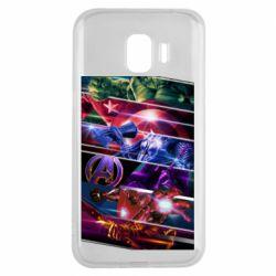 Чехол для Samsung J2 2018 Super power avengers
