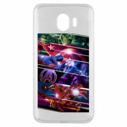 Чехол для Samsung J4 Super power avengers