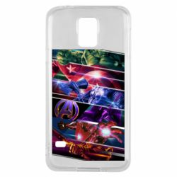 Чехол для Samsung S5 Super power avengers