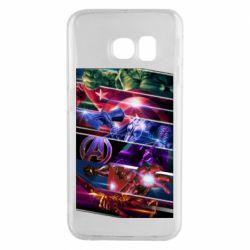 Чехол для Samsung S6 EDGE Super power avengers