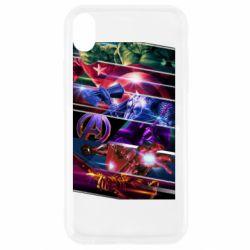 Чехол для iPhone XR Super power avengers