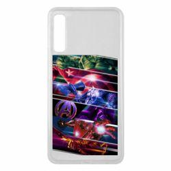 Чехол для Samsung A7 2018 Super power avengers