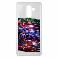 Чехол для Samsung J8 2018 Super power avengers