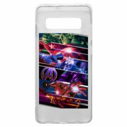 Чехол для Samsung S10+ Super power avengers
