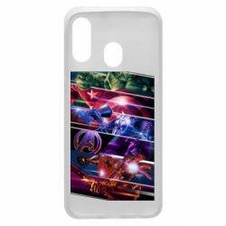Чехол для Samsung A40 Super power avengers