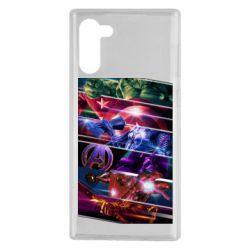 Чехол для Samsung Note 10 Super power avengers