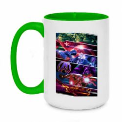 Кружка двухцветная 420ml Super power avengers