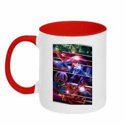Кружка двухцветная 320ml Super power avengers