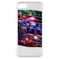 Чехол для iPhone 7 Super power avengers