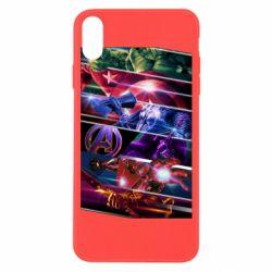Чехол для iPhone X/Xs Super power avengers