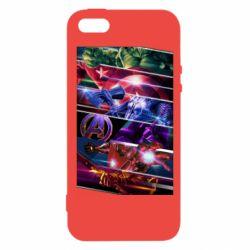 Чехол для iPhone5/5S/SE Super power avengers