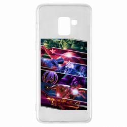 Чехол для Samsung A8+ 2018 Super power avengers