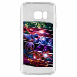 Чехол для Samsung S7 Super power avengers
