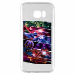 Чехол для Samsung S7 EDGE Super power avengers