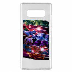 Чехол для Samsung Note 8 Super power avengers
