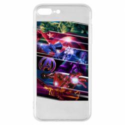 Чехол для iPhone 8 Plus Super power avengers