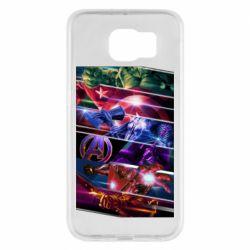 Чехол для Samsung S6 Super power avengers