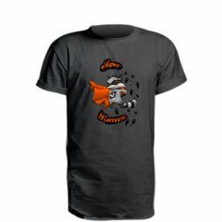 Удлиненная футболка Super raccoon
