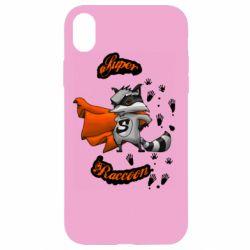 Чехол для iPhone XR Super raccoon