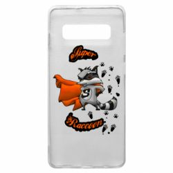 Чехол для Samsung S10+ Super raccoon