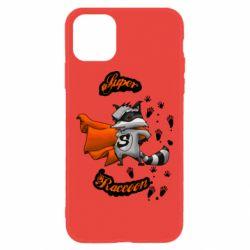 Чехол для iPhone 11 Super raccoon