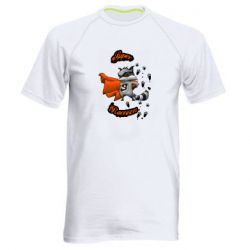 Мужская спортивная футболка Super raccoon