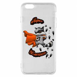 Чехол для iPhone 6 Plus/6S Plus Super raccoon