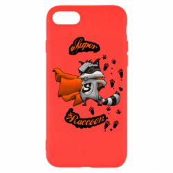 Чехол для iPhone 7 Super raccoon
