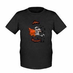 Детская футболка Super raccoon