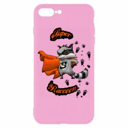 Чехол для iPhone 8 Plus Super raccoon
