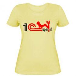 Женская футболка Supergirl 4 1С Бухгалтерия