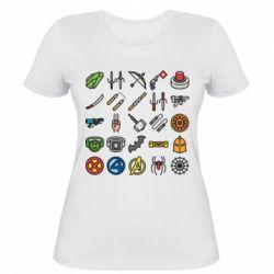 Жіноча футболка Superhero Icon Set